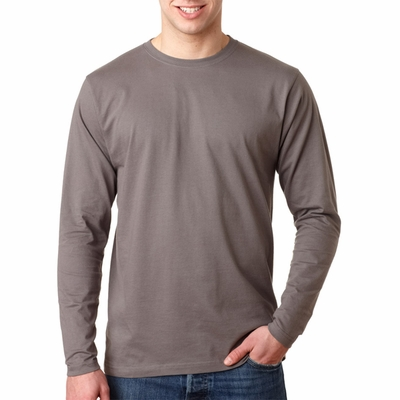 UltraClub Men's T-Shirt: 100% Organic Cotton Ring-Spun Long-Sleeve Crewneck (8601)