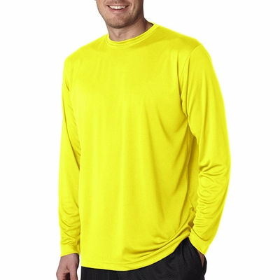 UltraClub Men's T-Shirt: Cool-N-Dry Sport Long-Sleeve Performance Interlock (8422)