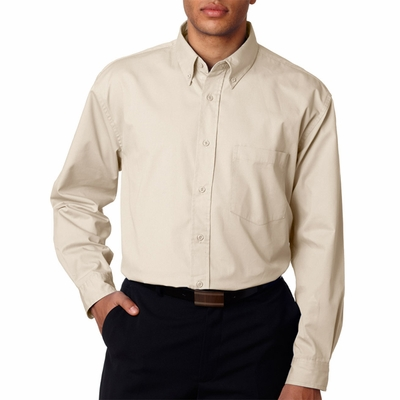 UltraClub Men's Twill Shirt: (8975T)