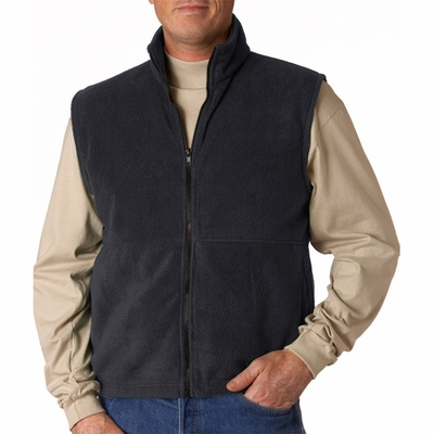 UltraClub Men's Vest: Iceberg Fleece Full-Zip (8486)
