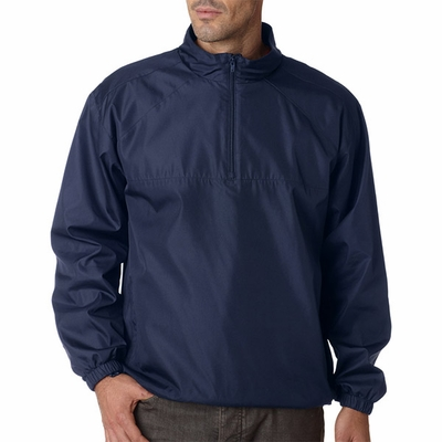 UltraClub Men's Windshirt: Micro-Poly 1/4 Zip Pullover (8936)