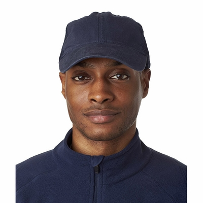 UltraClub Trucker Cap: 100% Cotton Classic Cut Washed Brushed Twill Unconstructed (8114)