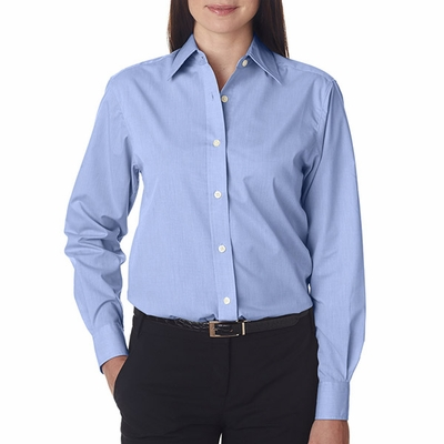 UltraClub Women's Dress Shirt: Wrinkle-Free End-On-End (8341)