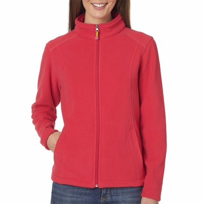 UltraClub Women's Jacket: Microfleece Full Zip (8498)