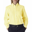 UltraClub Women's Oxford Shirt: Classic Wrinkle-Free Long-Sleeve (8990)