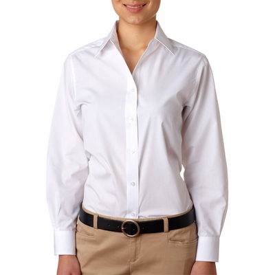 UltraClub Women's Poplin Shirt: (8331)