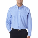 V0225 Van Heusen Men's Long-Sleeve Yarn-Dyed Gingham Check