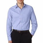 V0235 Van Heusen Men's Long-Sleeve Feather Stripe