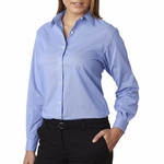 V0236 Van Heusen Ladies' Long-Sleeve Feather Stripe