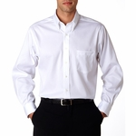 Van Heusen Men's Oxford Shirt: 100% Cotton Long-Sleeve Non-Iron Pinpoint (V0143)