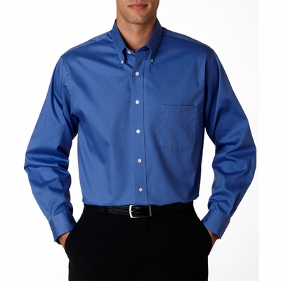Van Heusen Men's Oxford Shirt: Long-Sleeve Blended Pinpoint (V0067)