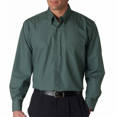 Men's Solid Silky Poplin: (13V0113)