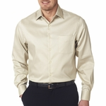 Van Heusen  Men's Woven Shirt: Pocket with Solid Sateen finish (V0218)