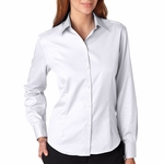 Ladies' True Wrinkle-Free Cotton Pinpoint Oxford: (13V0144)