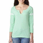 Ladies' Hailey 3/4-Sleeve Henley: (W1454)