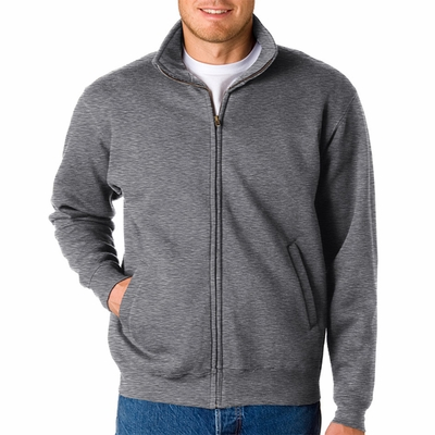 Adult Cross Weave® Full-Zip Warm-Up Sweatshirt: (7175)