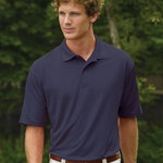 Willow Pointe Men's Polo Shirt: Short-Sleeve Horizontal Shadow Stripe Patterned (2950)