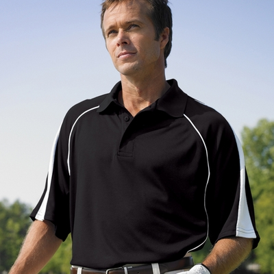 Willow Pointe Men's Polo Shirt: Short-Sleeve Performance w/ Contrast Piping (2850)
