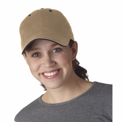 Yupoong Cap: 100% Cotton Brushed Twill Sandwich (6262S)