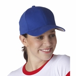 Brushed 6-Panel Cap: (6377)