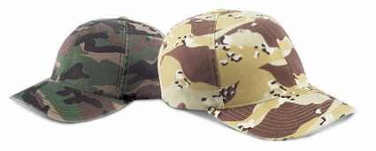 Cotton Camouflage Cap: (6977CA)