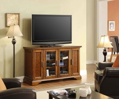 """Holloway 56"""" TV Tall Media Center Flat Panel Television Stand"""