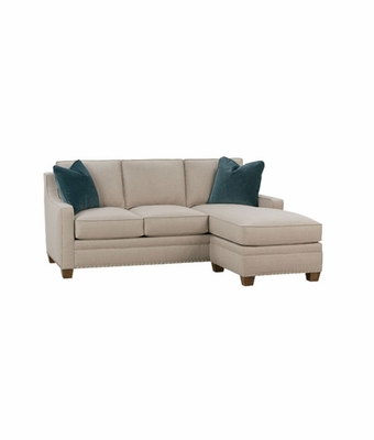 Apartment Size Full Size Sleeper Reversible Chaise Sectional  Club ...