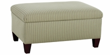 Adonis Fabric Upholsered Storage Ottoman With Hinged Lift Top