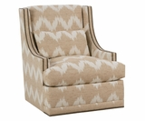Lacey Swivel Fabric Accent Chair