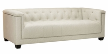 "Aiden ""Quick Ship"" Fabric Tufted Sofa"