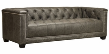 "Aiden ""Quick Ship"" Tufted Leather Sofa"