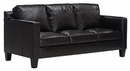 "Alex ""Designer Style"" Modern Apartment Size Leather Sofa w/ European Styling"