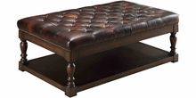 "Alfred ""Quick Ship"" Coffee Table Leather Ottoman"