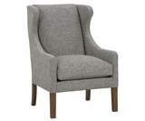 Alicia Fabric Wing Back Arm Chair