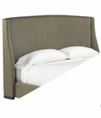 Allard Fabric Upholstered Headboard Only w/ Metal Bed Frame