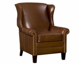 Amherst Tall Wingback Leather Club Chair