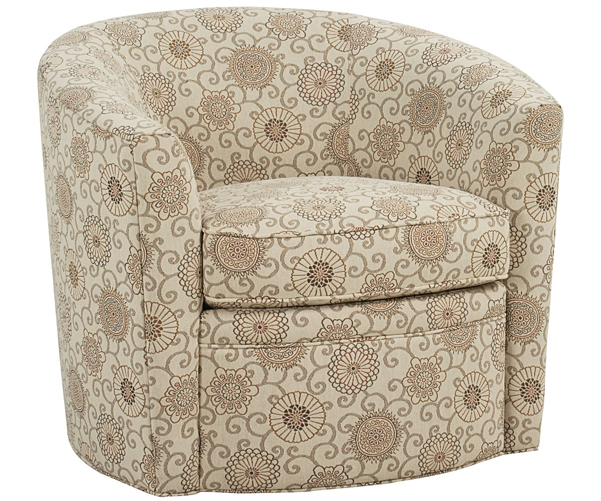 Round Swivel Tub Chair With Fabric Upholstery Club Furniture