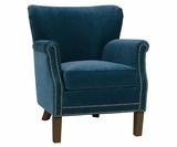 Antoinette Small Fabric Arm Chair With Nailheads