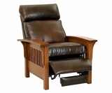 Aldrich Arts & Crafts Mission Leather Chair Recliner