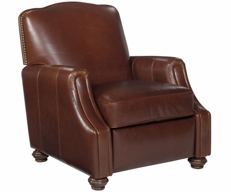 Ashford Inset Arm Traditional Leather Recliner