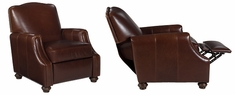 """Ashford """"Designer Style"""" Traditional Leather Recliner"""