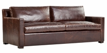 "Aston ""Quick Ship"" Modern Leather Sofa"