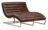 "Axel ""Quick Ship"" Leather Double Chaise"