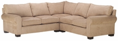 Bailey 3-Piece Fabric Roll Arm Sectional Couch (As Configured)