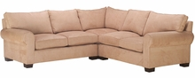 Bailey Oversized Fabric Rolled Arm Sectional Couch