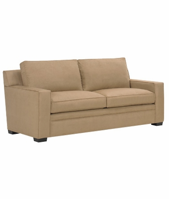 Modern Fabric Upholstered Queen Sleeper Sofa with Track Arms