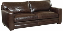 "Barton Track Arm ""Grand Scale"" Two Seat Leather Sofa"