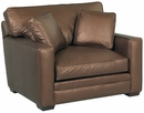 Barton Track Arm Leather Chair And A Half