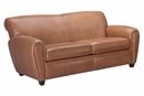 "Baxter ""Designer Style"" Art Deco Leather Club Couch"