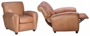 "Baxter ""Designer Style"" French Art Deco Style Leather Recliner"